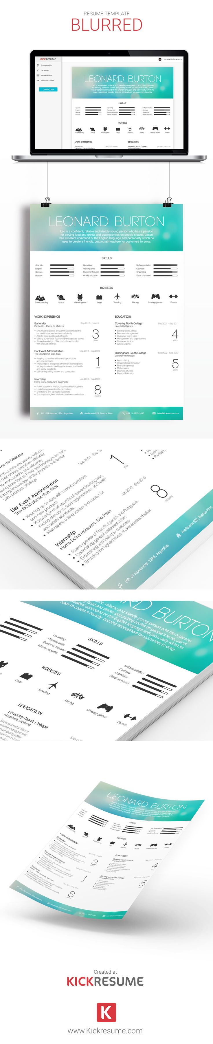 18 best Kickresume Templates Gallery (Resume samples, Resume ...