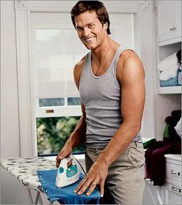 Mr Brady doing my least fav chore. <3 him.