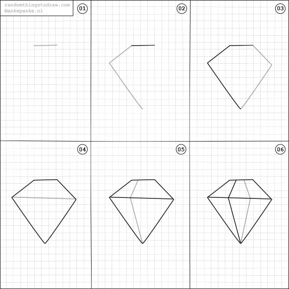Best 20 diamond drawing ideas on pinterest pastel for How to draw easy stuff for beginners