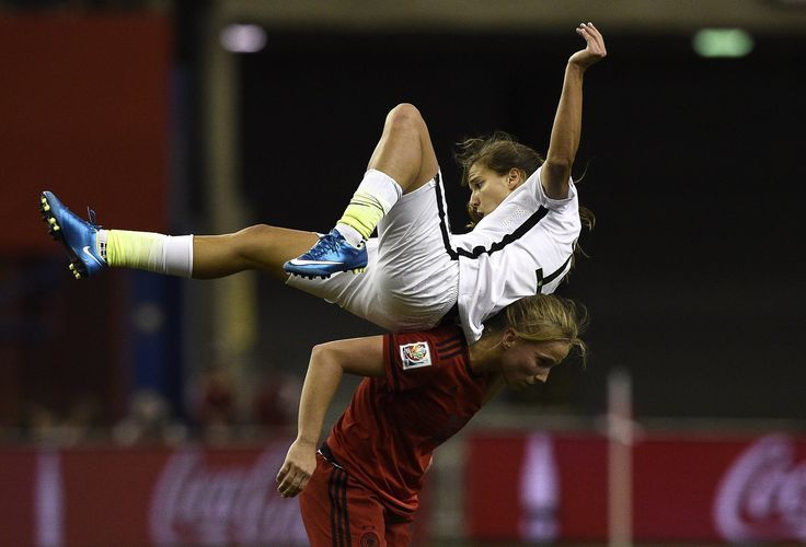 Tobin Heath in the USA vs Germany match