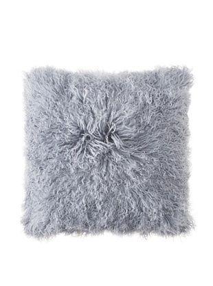 Belle Epoque Mongolian Lamb Euro Pillow (Grey)
