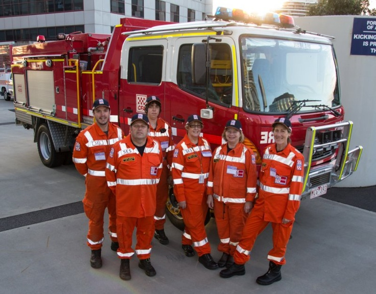 SES and CFA working together raising funds for the Good Friday Appeal