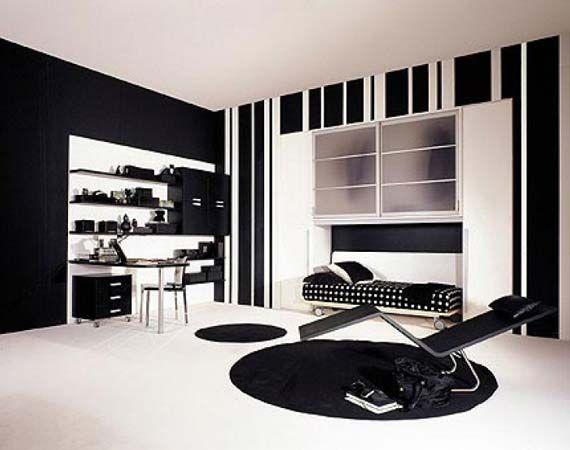 Teenage Bedroom Designs Black And White