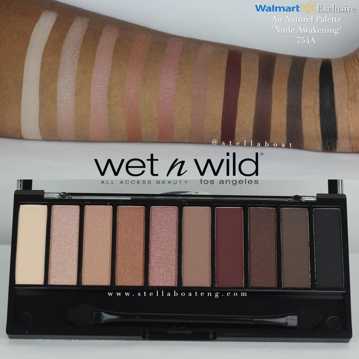 "Wet n' Wild | Au Naturel Palette in ""Nude Awakening"" Swatches on Dark Skin"