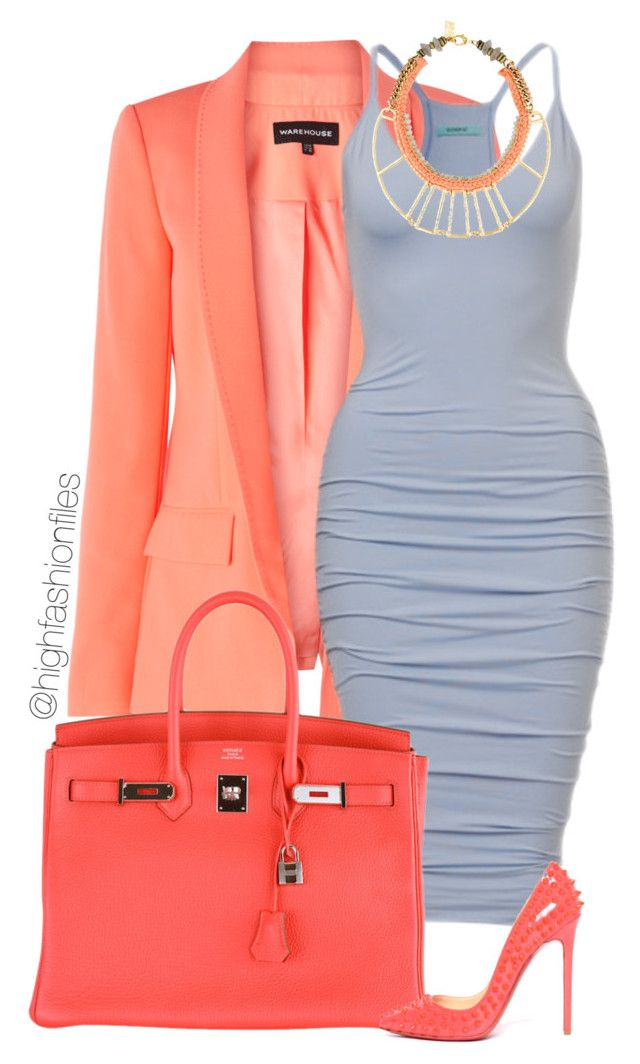 Coral X Powder Blue By Highfashionfiles Liked On