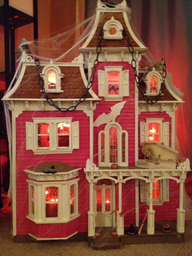 haunted halloween dollhouse - Miniature Halloween Decorations