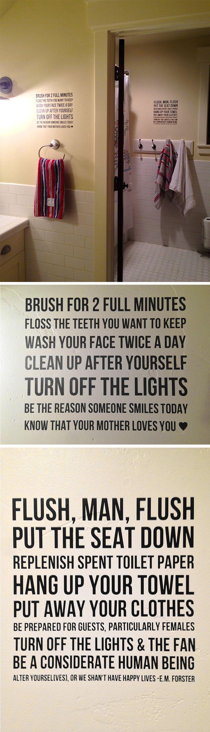 Boy Bathroom Sign 17 Best Ideas About Bathroom Rules On Pinterest Funny Toilet