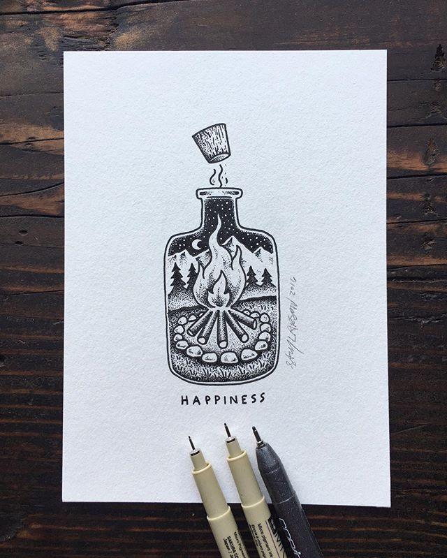 WEBSTA @ samlarson - A little bottle of happiness for y'all. #art #illustration