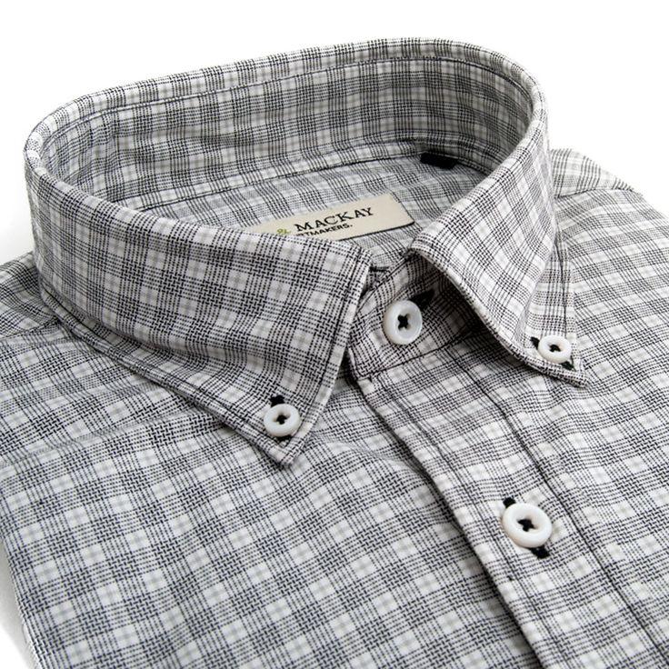 Black & Grey Newton Check Casual Fit - Button Cuff