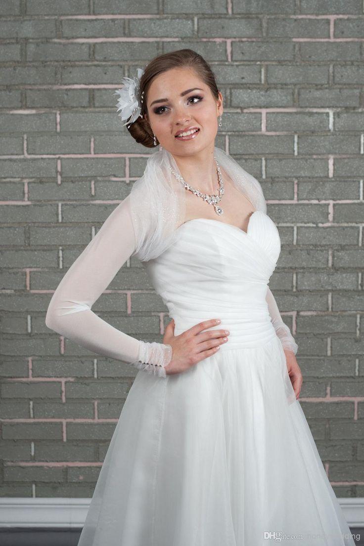 Wholesale Bridal Jackets - Buy Custom Made Wedding Bridal Jacket Ivory/white Pleat Bolero Shrug Bridal Jackets DH7038, $23.46 | DHgate