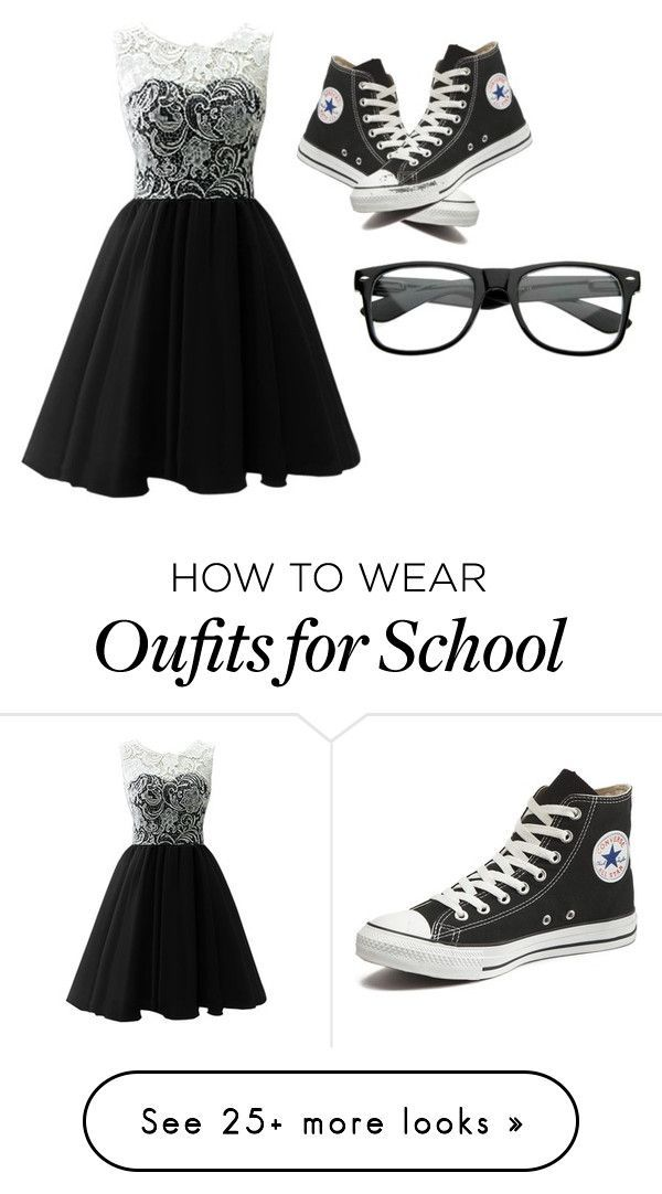 """Me in the middle school dance hopefully (insert my crush name) asks me"" by themysteriousmultifandomgirl on Polyvore featuring Converse, women's clothing, women, female, woman, misses and juniors"