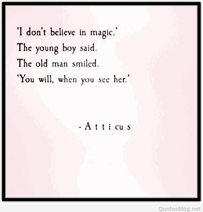I don't believe in magic quote