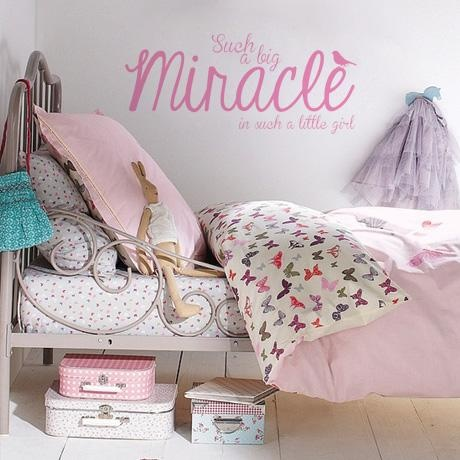 Miracle Girl Decal – Baby Pink from Fun Kid's Room Decals - R149 (Save 40%)