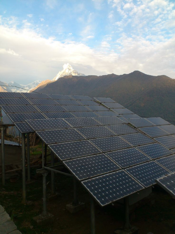 solar panels in Ghandruk #trekking #Gurung #village #Ghandruk #Ghandrung #hospital #travel