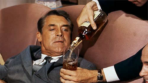 """""""But first, a libation.""""  Cary Grant in North by Northwest.Film Scene, Movie Scene, North By Northwest, Northwest 1959, Cinema, Cary Grantn, Alfred Hitchcock, Bad Movie, Film Icons"""