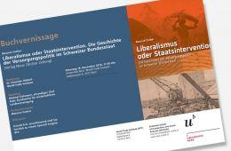 Bern, Buchvernissage: Einladung zu Liberalismus oder Staatsintervention. Datum: 18.11.2014