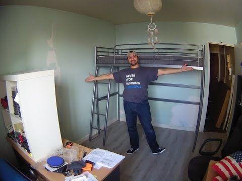 Ikea Svarta Loft Bed Time Lapse Youtube New Home