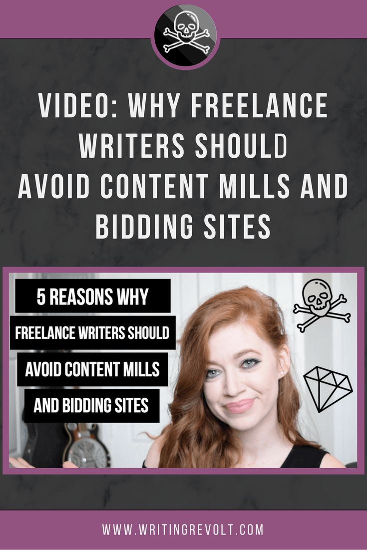 5 Reasons Freelance Writers Should Avoid Content Mills and Bidding Sites [VIDEO] - If you want to make money writing online (a full-time income!) you NEED to watch this video! | freelance writing tips | freelance writing for beginners | how to start freelance writing | get paid to write |