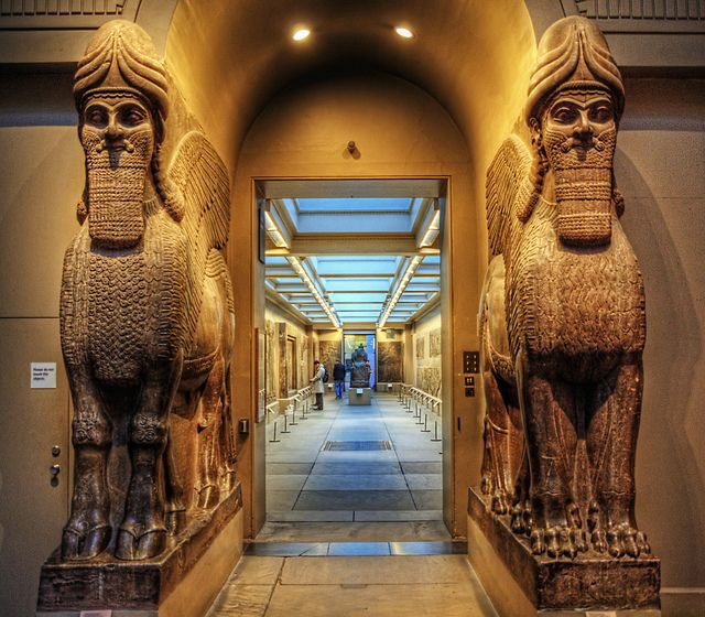 Assyrian section in British Museum, London.  Step through this gateway to become transported into this astonishing civilization!