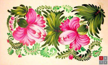 Схема вышивки «Петриковская