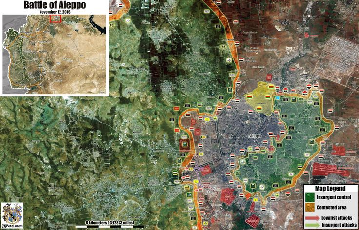 Syrian War Map Update: General Look at Military Situation in Aleppo City on November 12, 2016 - http://www.therussophile.org/syrian-war-map-update-general-look-at-military-situation-in-aleppo-city-on-november-12-2016.html/