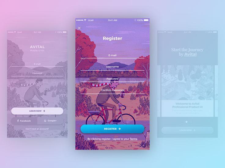 Freebie: Avital Mobile UI Kit by Yaroslav Zaytsev