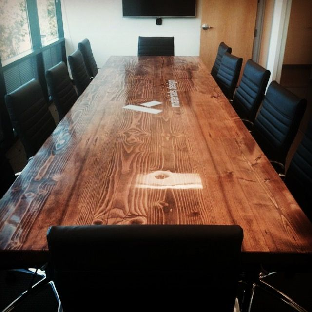 custom furniture on pinterest live edge table conference room and