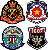 古典的な王室紋章のセット — ストックイラストレーション #67040101