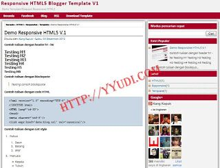 Download Template Responsive HTML5 V.1