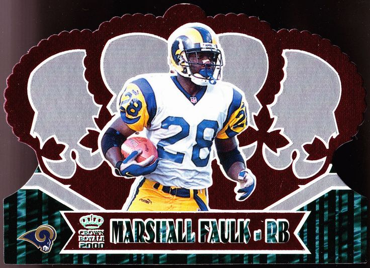 ST LOUIS RAMS 2000 PACIFIC RETAIL MARSHALL FAULK RED BORDER DIE CUT FREE SHIP…