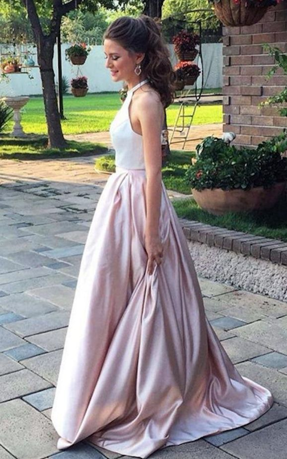 Beautiful dress!!!!. I order this dress for my daughter's prom. It fit... READ MORE ABOUT Ankang Women's Formal Halter Two Pieces Prom Dress Party Gowns With Pockets >>>