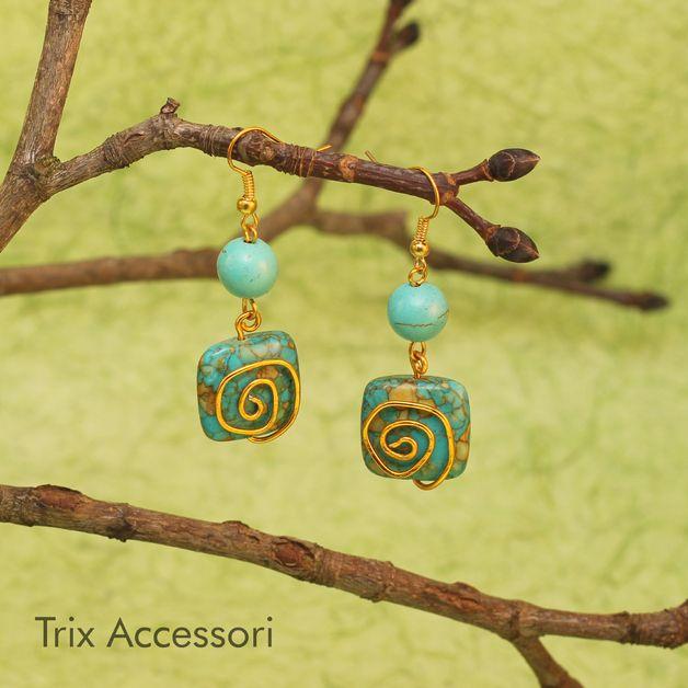 Turquoise Etno Earrings
