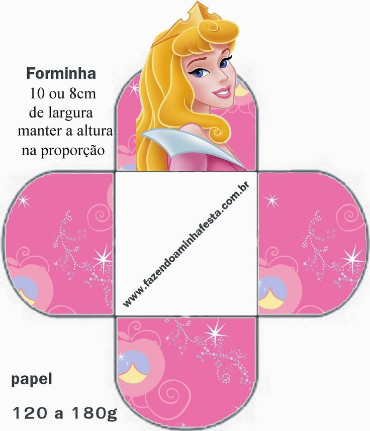 Free Printable Open Boxes for Disney Princess Party.