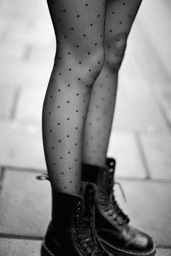 doc martens and polka dot tights. A shame I'm … …