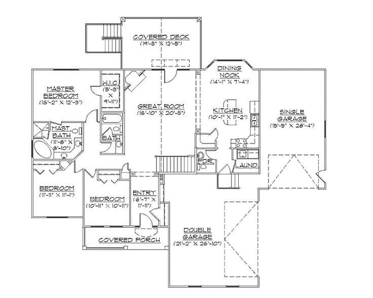 rambler house plans | Country rambler House Plan (HWBDO75111) | Traditional House Plan ...