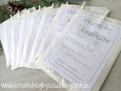 Kreativ Blog by Claudi: Wunsch-Knalltüte für's neue Jahr