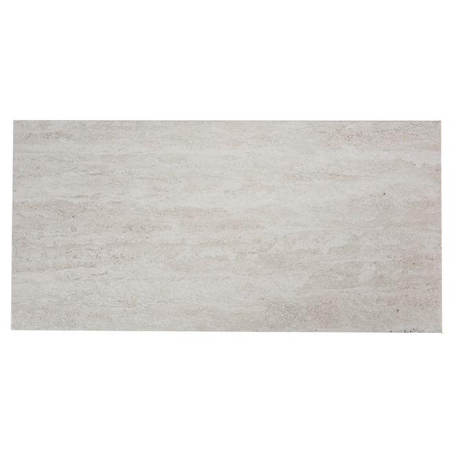 Tuiles de porcelaine, mur/plancher, gris/blanc, 8/boite   RONA