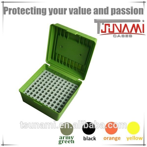 New portable plastic ammunition box bulk ammo 100 round ammo can for ammo reloading equipment (TB-904)