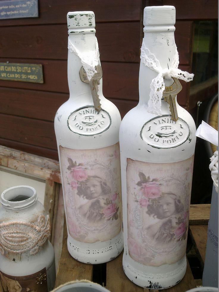 25 beste idee n over wijnflessen versieren op pinterest for Decoratie fles