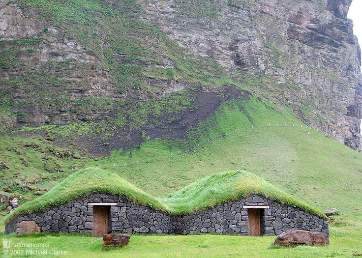 142 best houses turf images on pinterest architecture green these are stone and sod homes on the island of heimaey one of the islands fandeluxe Epub