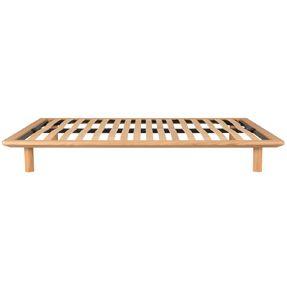 Light Oak Platform Bed - Double