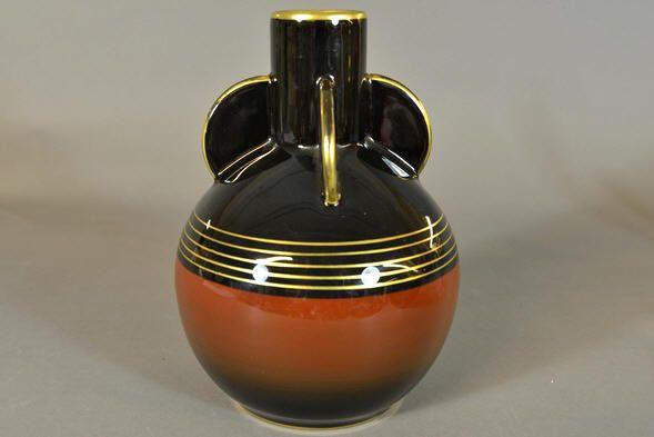 Auksjonshallen: Signed vase by Nora Gulbrandsen for Porsgrund Porselen