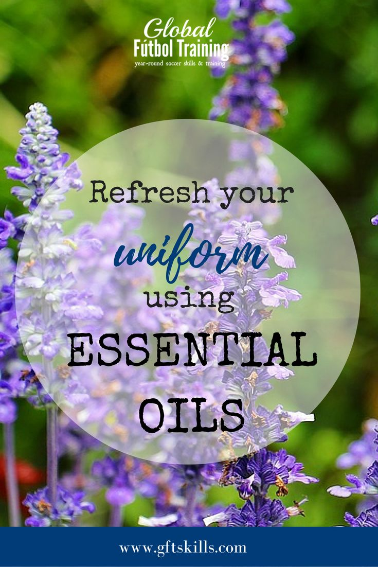 Refresh your uniform with essential oils. With daily practice and weekly games - sports uniforms can start smelling quickly. Sometimes it feels like no matter how much you wash them, the smell won't go away. BUT - now that problem can be solved. These easy essential oil recipes will refresh your uniform and make them smell new again. {great for all sports: basketball, baseball, tennis, volleyball, football, soccer, lacrosse, etc.}
