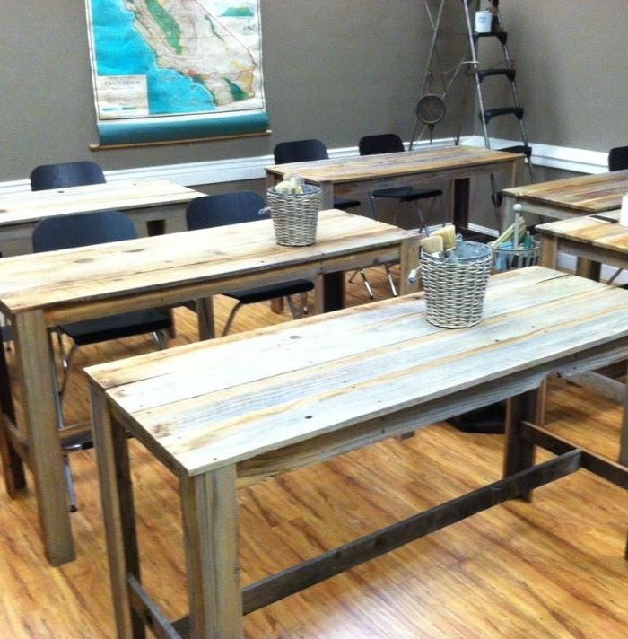 reclaimed wood work table  desk  unfinished
