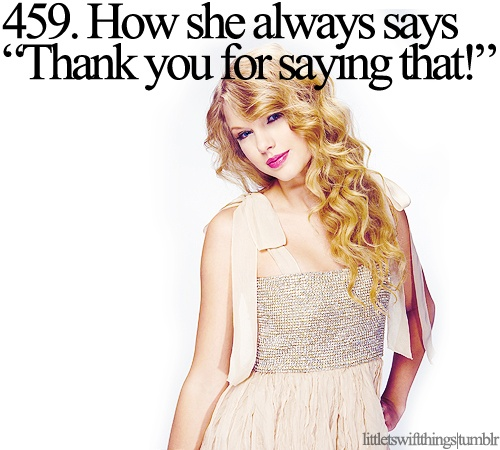 """Mama Swift: """"You look very pretty today, Ms. Taylor!"""" 3-year-old Taylor: """"Thank you for saying that!"""""""