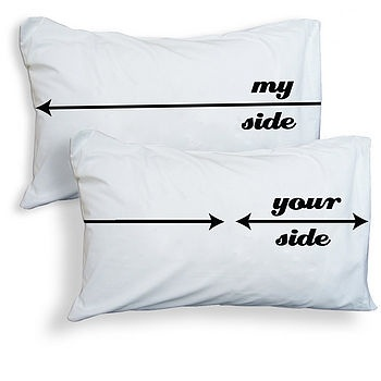 so true!: Pillows Cases, Beds, Mi Side, So True, House, Side Pillowca, Pillowcases, True Stories, Wedding Gifts