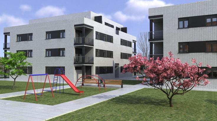 Edificios contemporaneo exterior jard n sillas for Exterior edificios