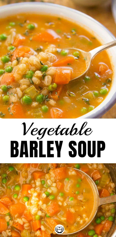 VEGETABLE BARLEY SOUP. Let the homey flavors speak for