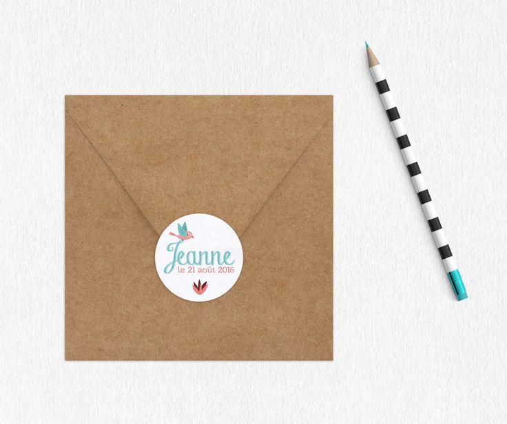 Stickers pour faire-part naissance