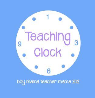 Teacher Mama: A Teaching ClockKids Learning, Kids Stuff, Kids Activities, Kids Math, Activities Crafts, Learning Kids, Teachers Mama, Kids Education, Teaching Clocks